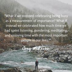 Stop celebrating busy.