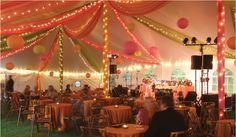 colorful draping for the garba tent?