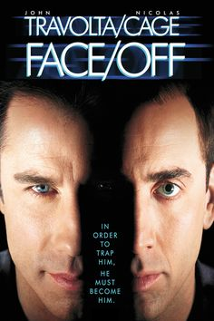 Face/Off Movie Poster - John Travolta, Nicolas Cage, Joan Allen  #Face, #Off, #JohnTravolta, #NicolasCage, #JoanAllen, #JohnWoo, #ActionAdventure, #Art, #Film, #Movie, #Poster