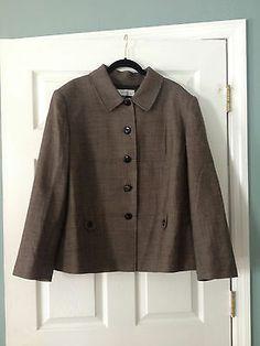 Tahari Brown Tweed Wool Jacket Blazer 22W | eBay