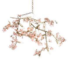 Ornella Flowering Branches II Chandelier in Custom Colors from PoshTots #PTRoyalBaby