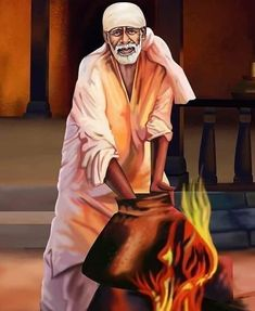 """One of his most famed sayings was """"God is the Owner of us All"""". Take a look at most stunning Shirdi Sai Baba Images in HD here. Hanuman Images, Durga Images, Sai Baba Hd Wallpaper, Funny Phone Wallpaper, Sai Baba Pictures, God Pictures, Captain America Art, Shirdi Sai Baba Wallpapers, Saints Of India"""