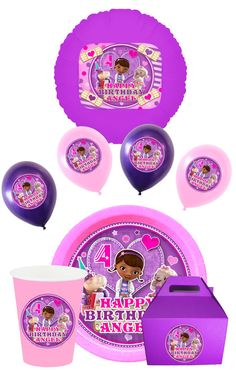 Doc Mcstuffins Party Pack With Plates Balloons You by SDBDIRECT, $9.99
