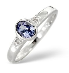 Tanzanite Solitaire Ring and Diamond White Gold Smooth Set Appraisal Certificate Tanzanite Engagement Ring, Tanzanite Ring, Engagement Rings, White Gold Rings, White Gold Diamonds, Diamond Jewelry, Gold Jewelry, Jewellery, Diamond Stores