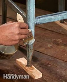 How To Remove Rust to paint metal furniture.