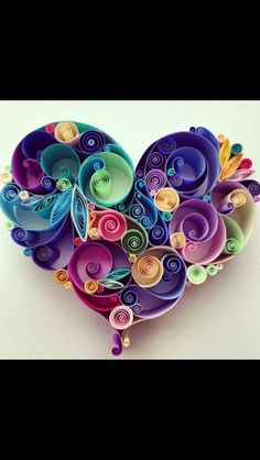Pretty Quilling Heart
