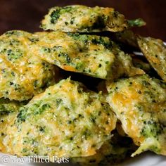 a pile of Broccoli Cheese Nuggets