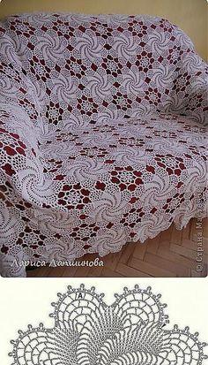 Crochet Table Runner Pattern, Crochet Doily Patterns, Crochet Motif, Crochet Doilies, Crochet Stitches, Diy Crafts Crochet, Crochet Home, Vintage Bedspread, Crochet Bedspread