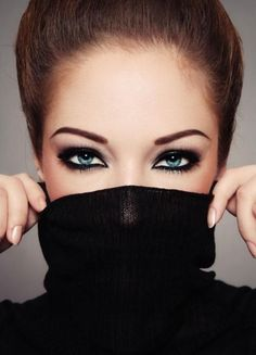 Try a dark eyeshadow, liner, and mascara to really make your eyes look ice blue. Go to Beauty.com for more products to make your eyes pop.