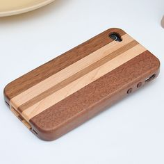 1.Compatible Brand: For Iphoone4/4s/5 , High Quality  2.Make of real natural pearwood  3.Protect your for iPhone4/4s/5 back cover for scratches  4.Offers excellent protection, and improves reception  5.Precise openings on the protector case to allow access to all controls and features