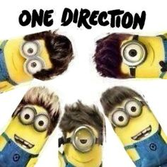 Minions Direction Kiss You One Direction Minions, Minions Singing, Funny Google Searches, Cute Minions, Best Song Ever, Everything Funny, Minions Quotes, Kiss You, Boys