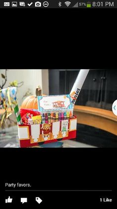Daniel Tiger party favor trolley