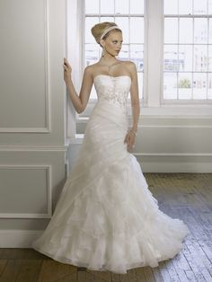 1614 Organza With Embroidery Wedding Dress – Mori Lee Bridal 2011 Collection