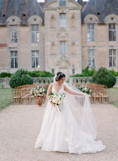 French Chateau Wedding with an Organic Twinkle Lit Tablescape indoorweddinglighting Popular Wedding Dresses, Bridal Wedding Dresses, Bridal Gown, French Wedding Style, Amazing Wedding Dress, French Chateau, Indoor Wedding, Boho Bride, Elegant