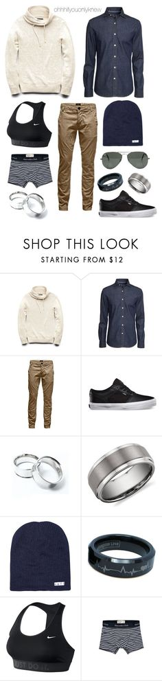 """Untitled #216"" by ohhhifyouonlyknew ❤ liked on Polyvore featuring 21 Men, H&M, Jack & Jones, Blue Nile, Neff, Ray-Ban, NIKE, Abercrombie & Fitch, menswear and tomboy"