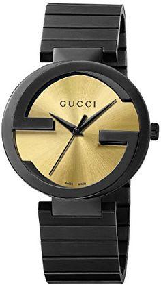 6eeca28d929 Gucci Interlocking Watch with Black Pvd Bracelet