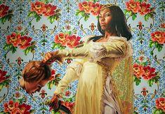 Obama Portrait Artist Likes to Paint African-American Women Holding Heads of Decapitated White Women – True PunditTrue Pundit