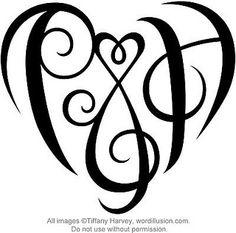 P Heart Design By Tiffanyharvey Via Flickr