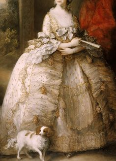 """warpaintpeggy: """"  INCREDIBLE DRESSES IN ART (108/∞) Queen Charlotte by Thomas Gainsborough, c. 1781 """""""