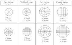 "This Cake Cutting and Servings Chart is based on cakes that are 4 to 5 inches in height. If your cake is a single layer and is only about 2 inches in height, then divide the servings in half. Here is an example: an 8"" round cake that is 2 inches high will have 7 party servings (not 14). Proudly powered by Weebly"