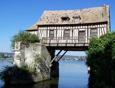 The old mill of Vernon, a half timbered house hanging over the river Seine Heading here soon!