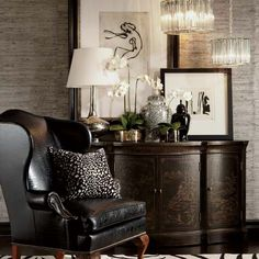 Furnish Your Home In Style With These Furniture Secrets. Buying furniture for your home can be loads of fun or a nightmare. Colonial Decor, British Colonial Decor, Furniture, Beautiful Interiors, Ethan Allen Furniture, Interior Design, Home Decor, House Interior, Custom Leather Sofa