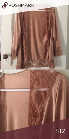 Vintage lace jacket Lovely lightweight vintage jacket, in a rose gold color. Lace detail along the edges. Perfect addition to a little black dress. Vintage Jackets & Coats Blazers