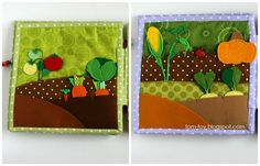 Fabric patterns simple, but big cute factor :)  quiet busy book for Stella and Sadie, развивающая книжка