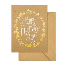 brown happy mother's day card