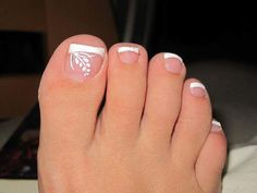 Summer Pedicure I love cleaning up my dirty hippie feet in the summer.-- Summer Pedicure I love cleaning up my dirty hippie feet in the summer. Just don't turn them over. Fancy Nails, Love Nails, Pretty Nails, My Nails, Pretty Toes, Toe Nail Designs, French Pedicure Designs, French Tip Pedicure, Nails Design
