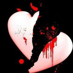 Emo Art by Aenek-Lycaon on DeviantArt Broken Love Images, Broken Heart Photos, Broken Heart Wallpaper, Love Wallpaper, Broken Heart Messages, Emo Pictures, Hurt Pictures, Emo Pics, Cute Baby Couple
