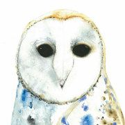 Watercolours art brooches & upcycled stuffed animals by WinterOwls