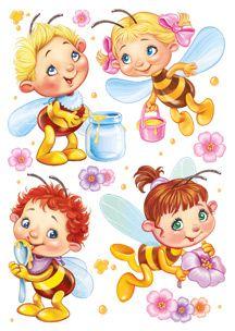 Империя Поздравлений - - Cartoon Bee, Cute Cartoon, Cartoon Drawings, Cute Drawings, Bee Rocks, Easy Preschool Crafts, Free Adult Coloring Pages, Cute Bee, Baby Fairy