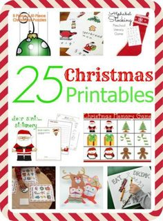 25 Christmas Printables - Everything from playdough mats to letters to Santa.