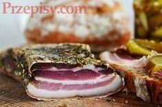 boczek suszony Kielbasa, Polish Recipes, Smoking Meat, Bon Appetit, Italian Recipes, Tapas, Sausage, Sandwiches, Pork