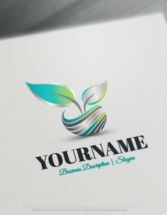 Create a Logo Free - 3D Leaf Logo ReadymadeOnline logo template decorated with 3D Leaf logo image. This professional logos greatfor branding Environmental companies, Parks and Nature reserves, Eco friendly Products, BeautyProducts, healthProductsetc.    How to design free logo online? 1- Customize This logo with our free logo maker tool -Change you company name, slogan, colors & fonts. 2-