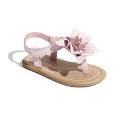 Nuborn 'Chacha' Sandal (Baby) Pink 2 M (1.085 RUB) ❤ liked on Polyvore featuring baby, baby clothes, baby girl, kids, baby girl clothes and women