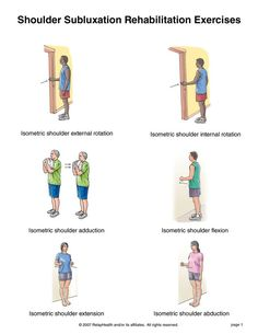 Summit Medical Group - Shoulder Subluxation Exercises Source by Occupational Therapy Assistant, Occupational Therapy Activities, Isometric Exercises, Isometric Shoulder Exercises, Shoulder Rehab Exercises, Shoulder Dislocation, Tendinitis, Physical Therapy Exercises, Physical Therapist