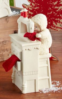 SNOWBABIES Stocking Cap Maker Sewing Machine figurine Dept 56 NEW IN BOX