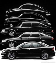 """nousualcar: """"The progression of the brand Saab… Now there is a black hole. """""""