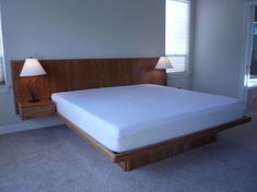 floating bed design floating platform bed with headboard