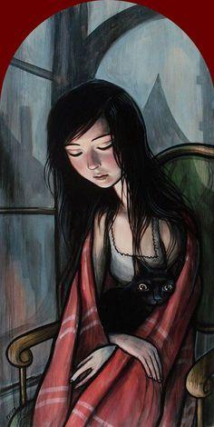 La nit em clava de Maria Mercè Marçal.Il.lustració Kelly Vivanco