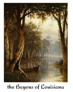 Louisiana Bayou by Joseph Meeker Giclee Canvas Print Repro Louisiana Swamp, Louisiana Homes, Louisiana Art, Louisiana Tattoo, Theme Nature, Image Nature, Artist Canvas, Canvas Art Prints, Landscape Paintings