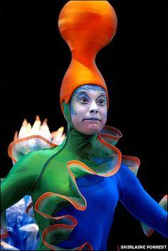 A performer in Cirque Du Soleil's Varekai