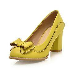 Leatherette Women's Chunky Heel Heels Pumps/Heels Shoes(More Colors)