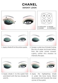 CHANEL Eye Makeup Chart_CHANEL SMOKY EYES how-to 2014