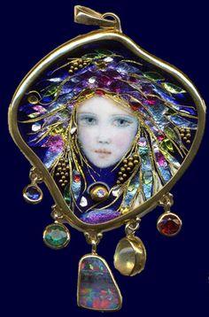 Mona Szabados- enamel jewelry