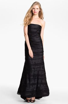 Alice + Olivia 'Zimmer' Tiered Silk Mermaid Gown available at Nordstrom