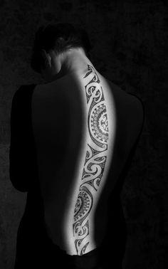 The Spine Tribal Tattoo Design