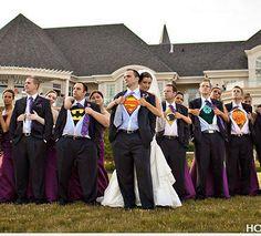 Have a Super hero in your future?  Super cute idea!  ~ WeddingWoman.net